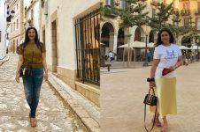 10 Gaya Bella Saphira liburan di luar negeri, simpel bersandal jepit