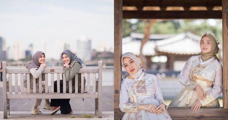10 Momen Vebby Palwinta & Dian Ayu liburan ke Korea, bak kakak adik