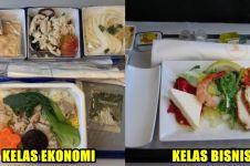 10 Foto beda makanan kelas bisnis vs ekonomi pesawat, penasaran?