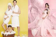 7 Beda gaya pemotretan maternity Faby Marcellia, unik hingga elegan