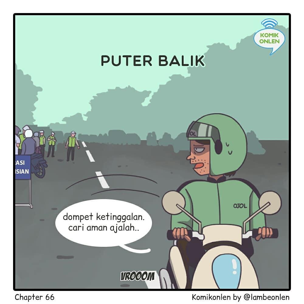 komik strip kelakuan ditilang © Instagram/@komikonlen