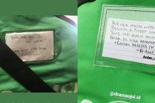 8 Gombalan lucu di jaket driver ojek online ini bikin tersipu malu