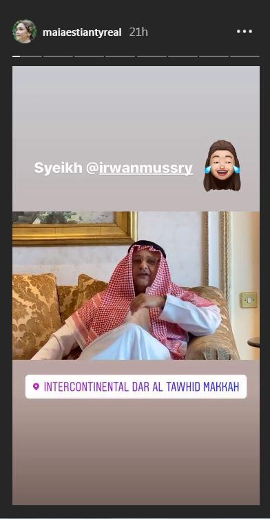Momen umrah Maia dan Irwan  Instagram