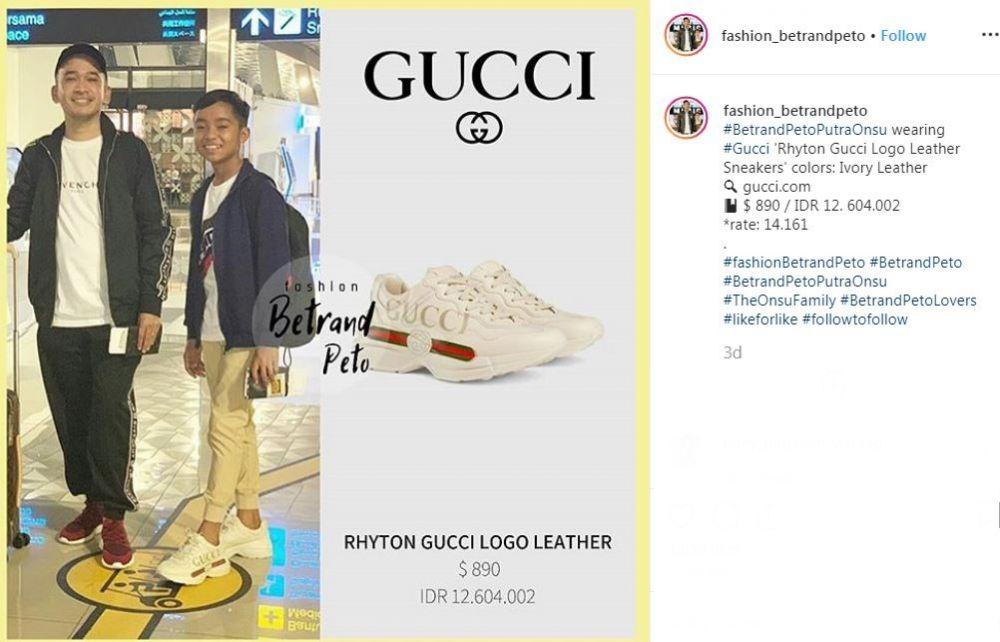 Sepatu Betrand Peto  Instagram
