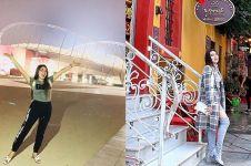 8 Momen liburan Via Vallen di Timur Tengah, gayanya curi perhatian