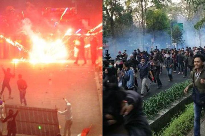 7 Fakta demo rusuh 30 September 2019, gas air mata masih terasa