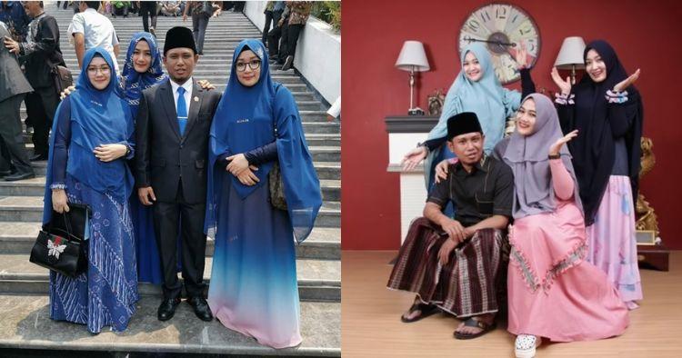 10 Potret kebersamaan Lora Fadil dan ketiga istrinya, harmonis abis