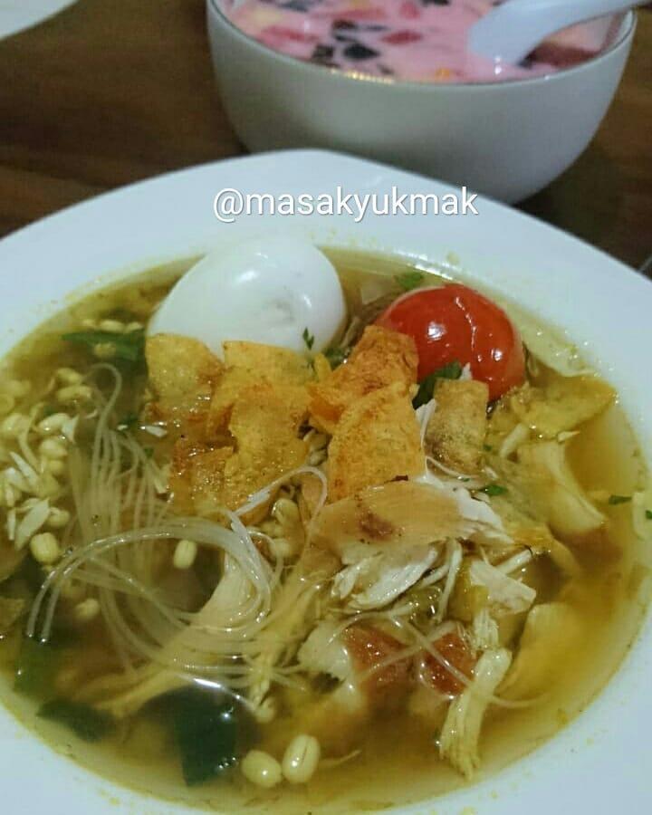 Resep soto ayam bening kuning enak instagram