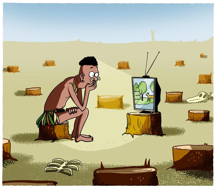 ilustrasi kehidupan modern brightside.me