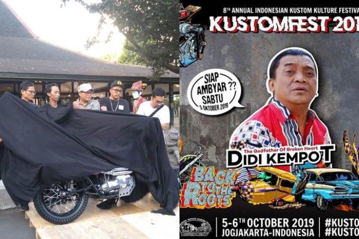 Kustomfest 2019, lucky draw motor hingga aksi Didi Kempot