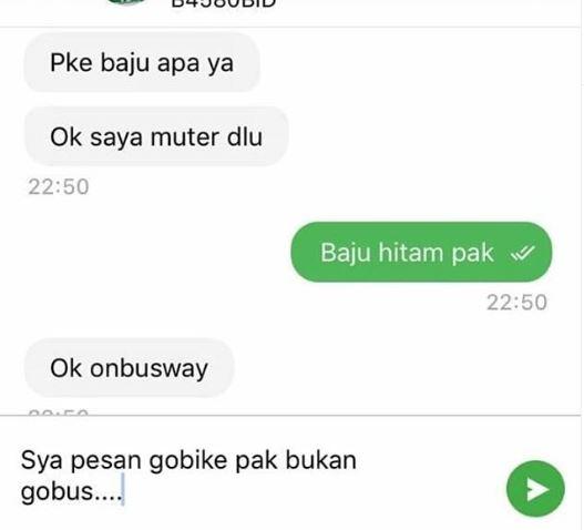 chat lucu driver gagal paham Instagram