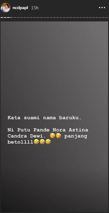 Ini nama baru Nora Alexandra Instagram