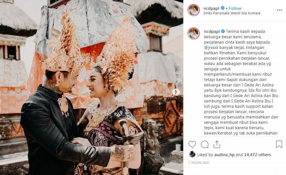 perjalanan cinta nora dan jerinx Instagram