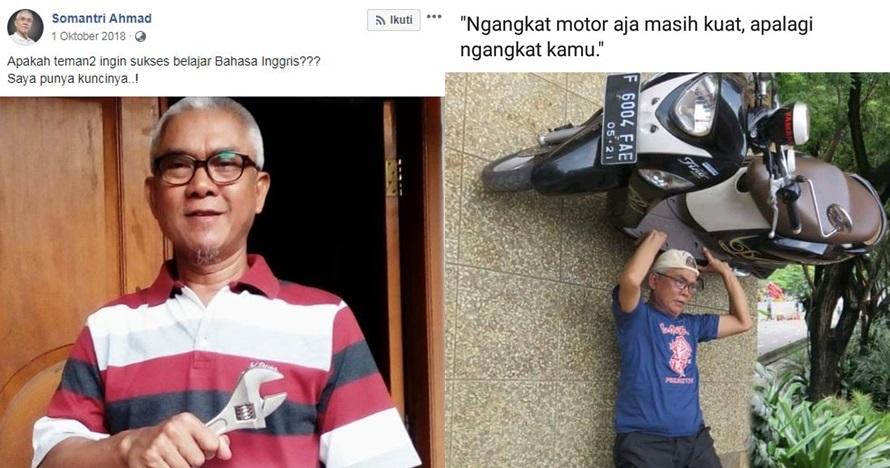 13 Status medsos nyeleneh bapak ini viral, editan fotonya gokil