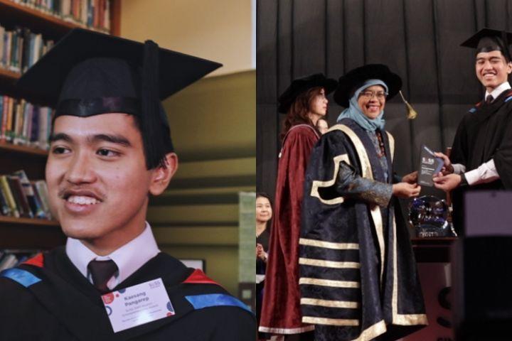 Akhirnya lulus, ini 6 momen bahagia Kaesang wisuda di Singapura
