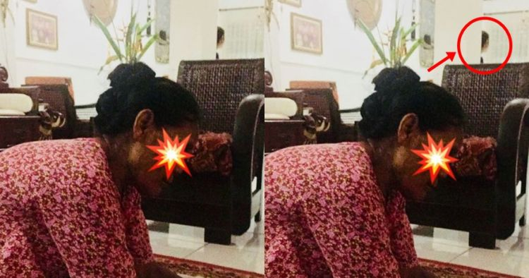 Fotoin suaminya lagi dipijat, cewek ini potret penampakan serem