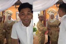 Resepsi didatangi mantannya istri, aksi pengantin pria bikin salting