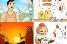 10 Ilustrasi jika kungkang hidup bak manusia, kocak tapi kasihan