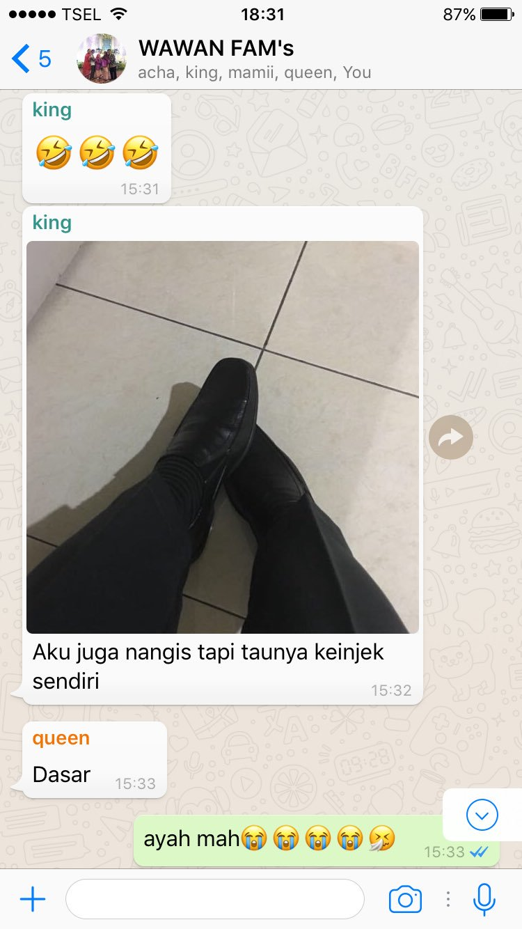 chat grup whatsapp keluarga Istimewa
