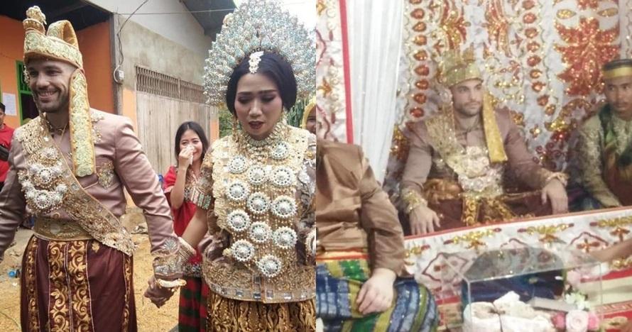 Viral pernikahan perempuan Bugis dan bule AS pakai baju adat