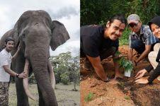 Peduli kebakaran hutan Jambi, Chicco Jerikho tanam pohon