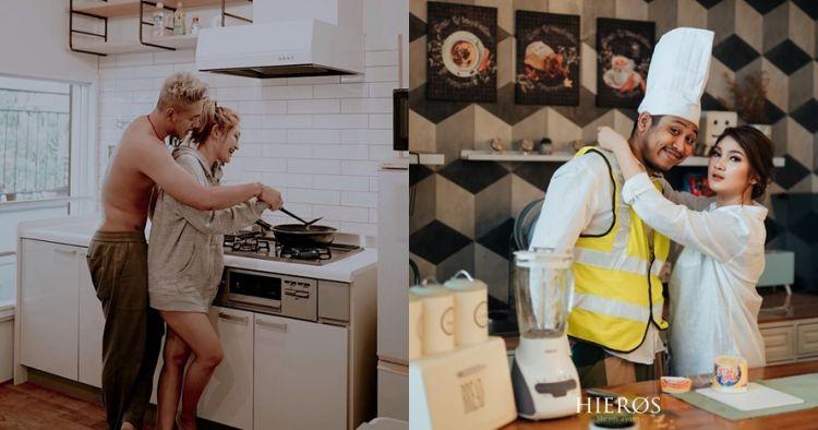 Momen mesra 5 pasangan seleb di dapur, jadi sorotan