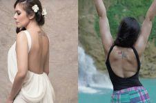 8 Potret Wulan Guritno pertontonkan tato, punya makna kuat