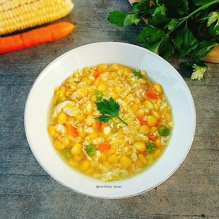 10 Cara membuat sup jagung, enak, sederhana, dan praktis Instagram/@a___dama  @resep_makanan8
