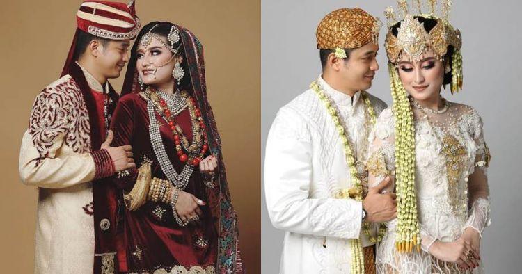 8 Gaya pemotretan Adly Fairuz & Angbeen Rishi, bak pengantin