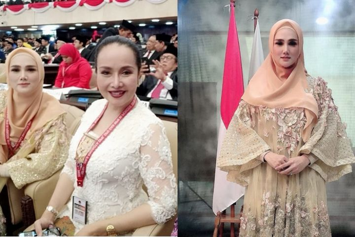 9 Potret Mulan Jameela jadi anggota DPR, gayanya disorot