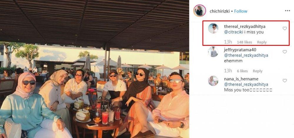 7 Momen Rezky Aditya dan Citra Kirana saling lempar gombalan instagram