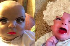 Potret 9 bayi pakai filter kamera ini bikin gagal gemas