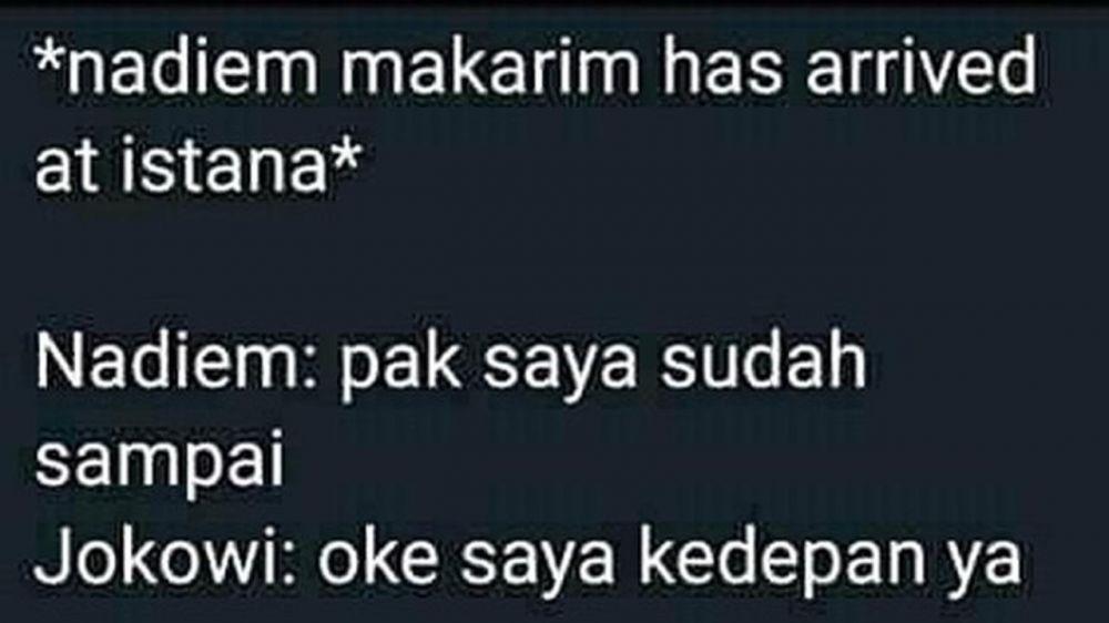 Meme lucu Nadiem Makarim Instagram
