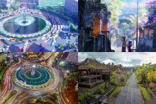 Berlatar belakang Indonesia, ini beda 4 lokasi anime vs dunia nyata