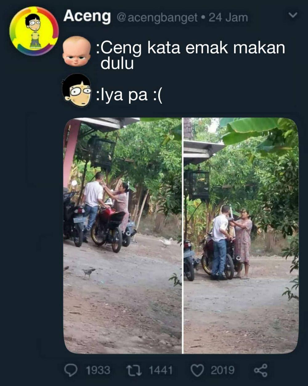 meme lucu nurut kata emak © 2019 berbagai sumber