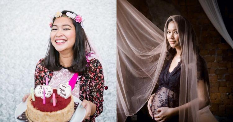 7 Potret maternity Anneke Jodi, sederhana dan elegan