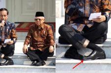 Umumkan kabinet baru, gaya Jokowi silangkan kaki ini bikin heran