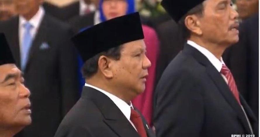 Momen unik Didit Hediprasetyo saat dampingi Prabowo pelantikan