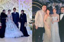 Gaun 6 seleb saat jadi tamu di pernikahan ini saingi pengantin