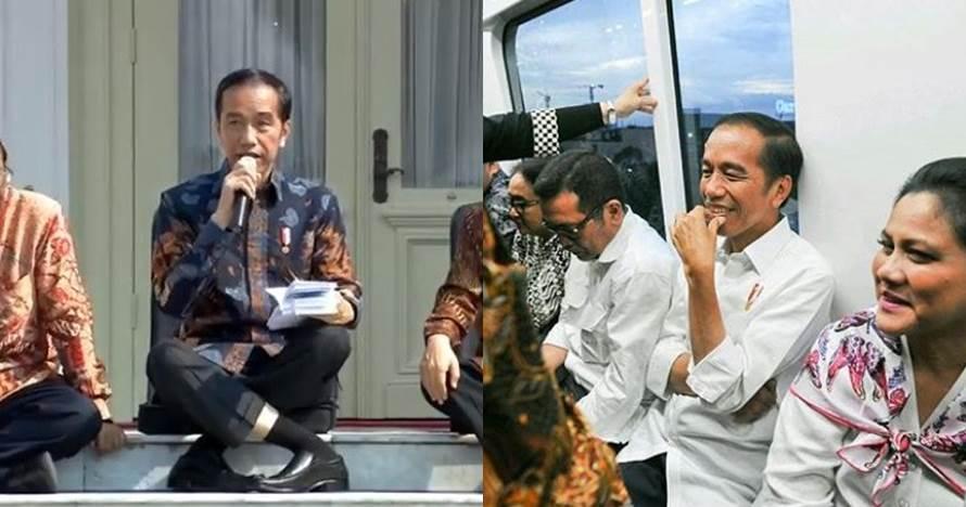 Selain duduk, 7 gaya khas Presiden Joko Widodo ini ikonik