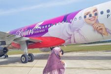 Wajah mejeng di badan pesawat, ini tanggapan Shireen Sungkar