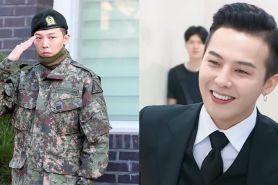 10 Potret G-Dragon pulang wajib militer, disambut 3000 fans