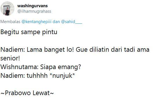 dialog Nadiem & Wishnutama © 2019 Twitter