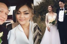 Nikah di Belanda, Rina Nose pakai gaun spesial buatan Ivan Gunawan