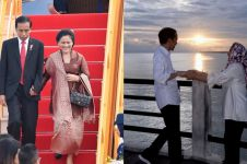 6 Potret romantis Jokowi dan Iriana nikmati sunset di Papua