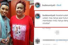 10 Caption unik Bude Sumiyati foto bareng seleb, puitis abis