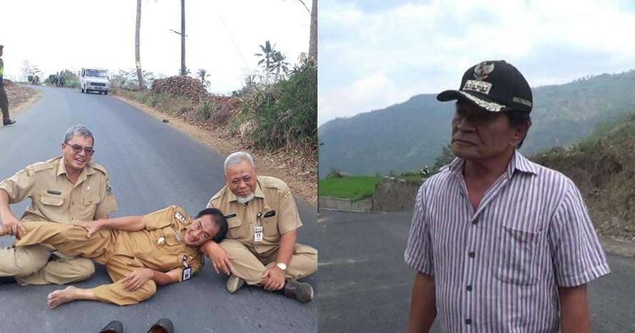 Bupati Banjarnegara guling-guling di jalan, aksinya viral lagi