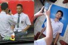 10 Cara nyeleneh orang bikin pas foto ini bikin cekikikan