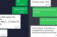 10 Chat lucu pelanggan ojek online ngusilin driver ini kocak