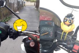 7 Mainan anak di motor ini bikin pengemudi gagal fokus
